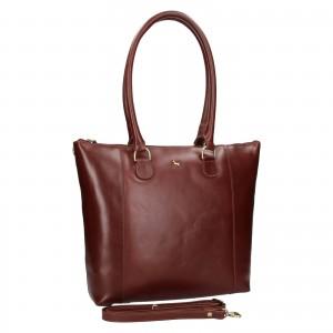 Dámska kožená kabelka Ashwood Ellie - tmavo hnedá