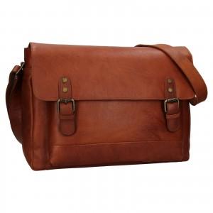 Pánska kožená taška na notebook Ashwood Noah - svetlo hnedá