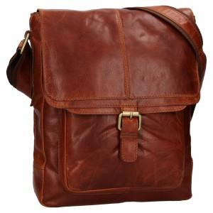 Pánska kožená taška cez rameno Ashwood Edward - tmavo hnedá