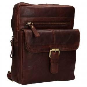 Pánska kožená taška cez rameno Ashwood Nicholas - tmavo hnedá