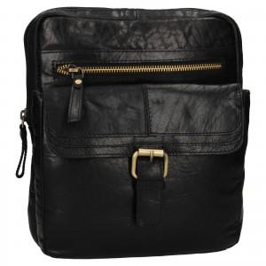 Pánska kožená taška cez rameno Ashwood Nicholas - čierna