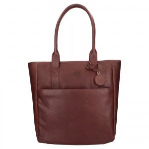 Dámska kožená kabelka Ashwood Luren - tmavo hnedá