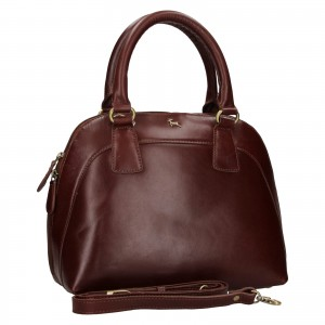 Dámska kožená kabelka Ashwood Miriame - hnedá