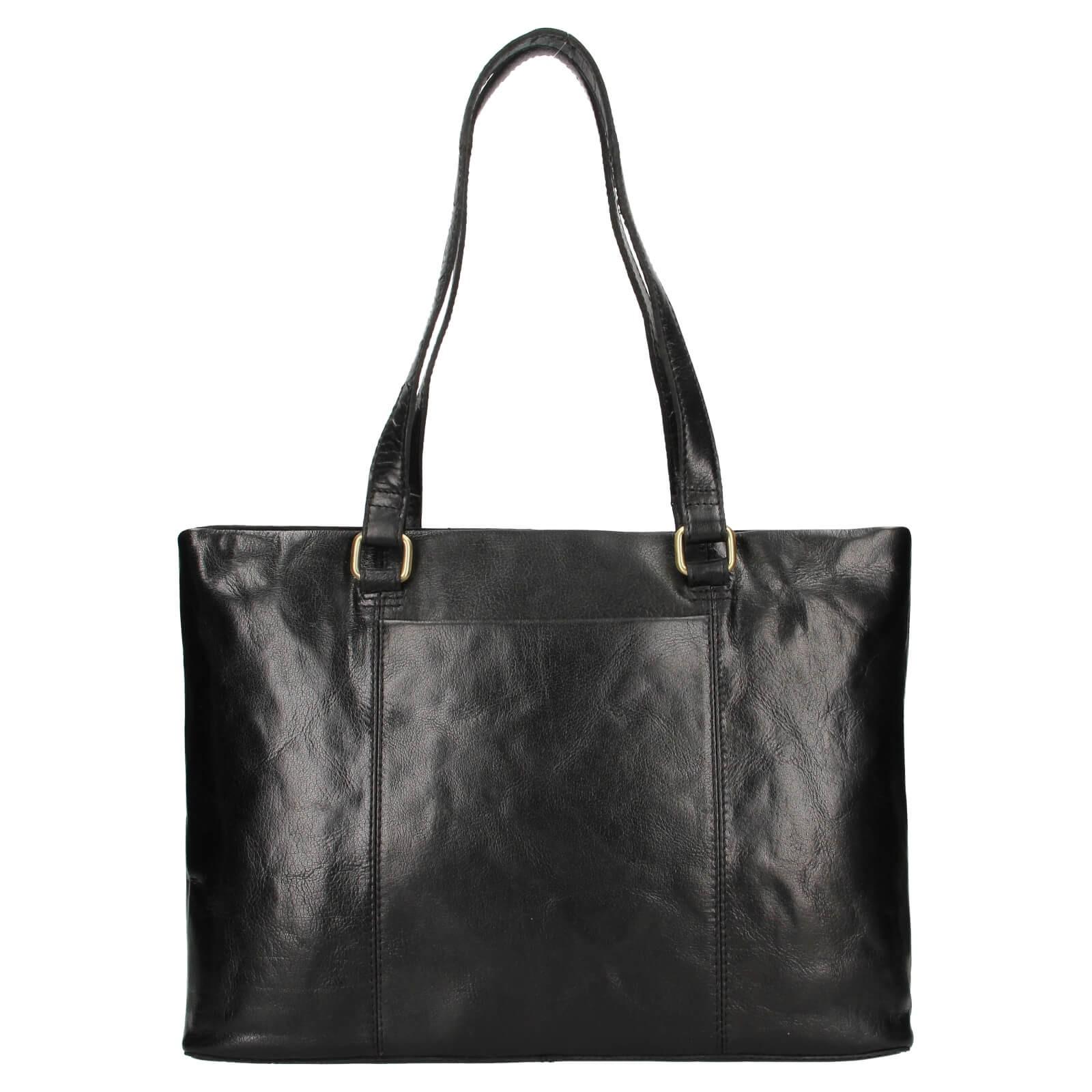 Dámska kožená kabelka Ashwood Lolita - čierna