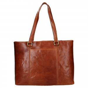 Dámska kožená kabelka Ashwood Lolita - koňak