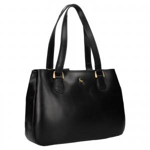 Dámska kožená kabelka Ashwood Lalita - čierna