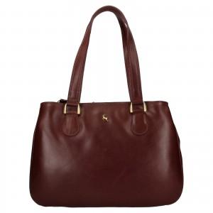 Dámska kožená kabelka Ashwood Lalita - tmavo hnedá