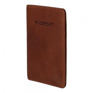 Obal na cestovný pas Burkely Avery - koňak