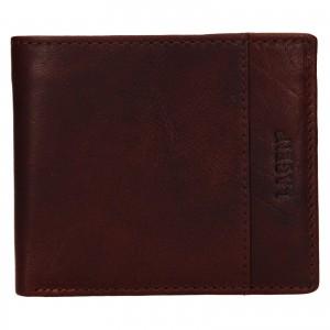 Pánska kožená peňaženka Lagen Denton - koňak