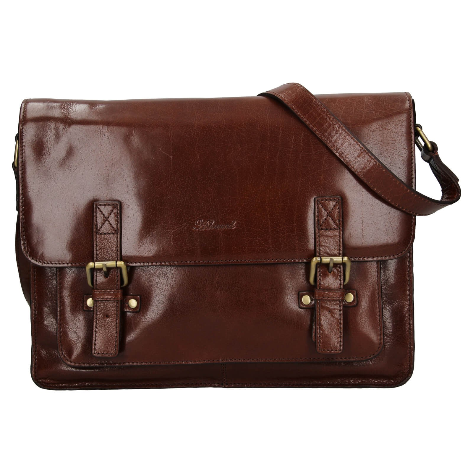 Pánska kožená taška cez rameno Ashwood Satls - koňak