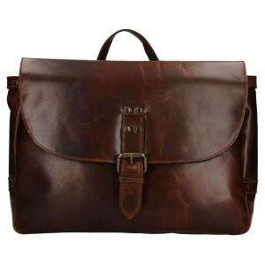 Pánska kožená taška cez rameno Ashwood Copper - tmavo hnedá