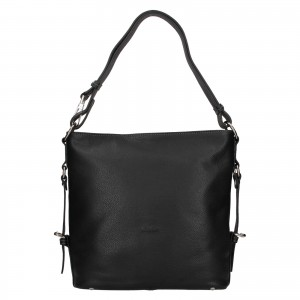 Elegantná dámska kožená kabelka Katana Nantes - čierna
