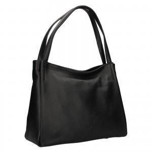 Elegantná dámska kožená kabelka Katana Alvana - čierna