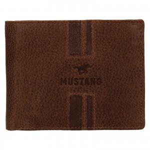 Pánska kožená peňaženka Mustang Loyd - koňak