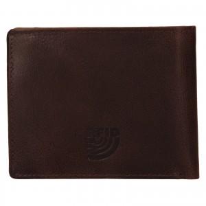 Pánska kožená peňaženka Mustang Gart - hnedá