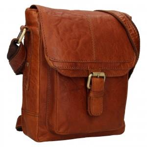 Pánska kožená taška cez rameno Ashwood Lincoln - koňak