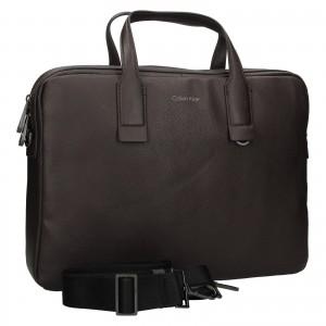 Pánska taška na notebook Calvin Klein Enrique - tmavo hnedá