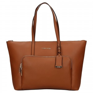 Dámska kabelka Calvin Klein Dolores - hnedá