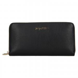 Dámska kožená peňaženka Tommy Hilfiger Kneata - tmavo modrá