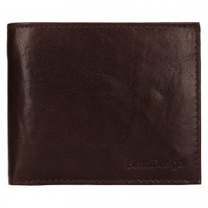 Pánska kožená peňaženka SendiDesign Bredly - tmavo hnedá