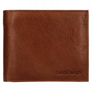Pánska kožená peňaženka SendiDesign Bredly - koňak