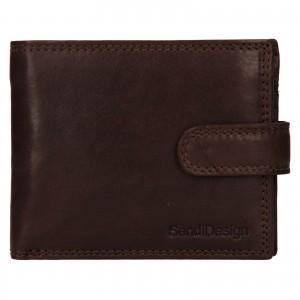 Pánska kožená peňaženka SendiDesign Dowsn - tmavo hnedá