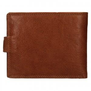 Pánska kožená peňaženka SendiDesign Dowsn - koňak