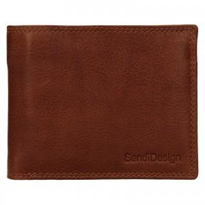 Pánska kožená peňaženka SendiDesign Lopezz - koňak