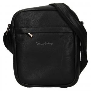 Pánska kožená taška Pierre Andreus Lipo - čierna