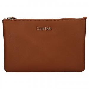 Dámska crossbody kabelka Calvin Klein Maja - hnedá