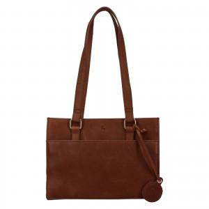 Menšie dámska kožená kabelka Ashwood Compact - hnedá