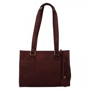 Menšie dámska kožená kabelka Ashwood Compact - tmavo hnedá