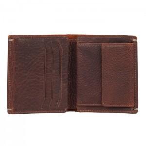Pánska kožená peňaženka Burkely Sten - tmavo hnedá