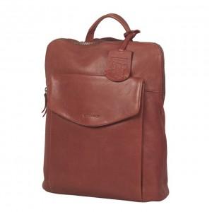 Trendy kožený batoh Burkely Fiona - ružová