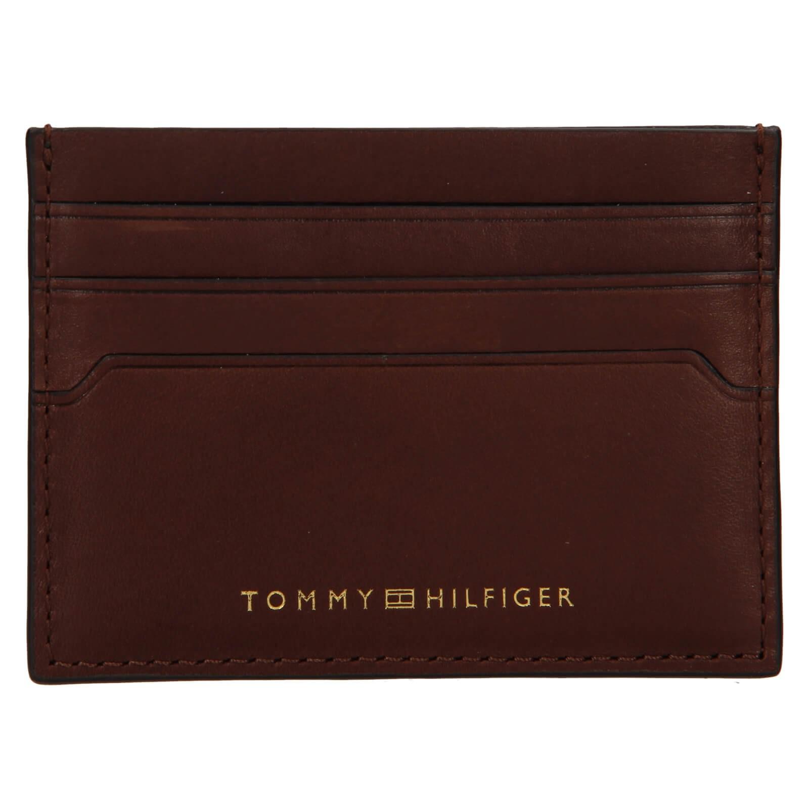 Kožený obal na karty Tommy Hilfiger Paul - hnedá