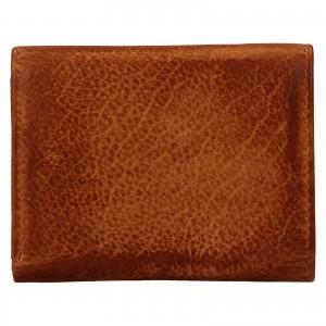 Dámska kožená slim peňaženka Lagen Déborah- hnedá