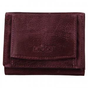 Dámska kožená slim peňaženka Lagen Déborah - fialová