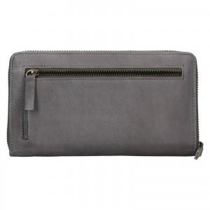 Dámska kožená peňaženka Lagen Libertad - šedá