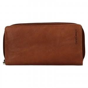 Dámska kožená peňaženka SendiDesign Rosana - koňak