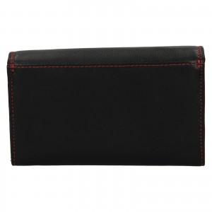 Dámska kožená peňaženka SendiDesign Solena - čierno-červená