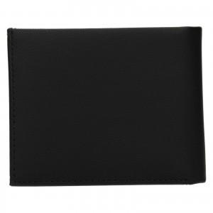 Pánska kožená peňaženka Calvin Klein Nemír - čierna