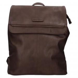 Moderný dámsky batoh Enrico Benetti Tinna - tmavo hnedá