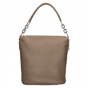 Dámska kožená kabelka Facebag Talma - taupe
