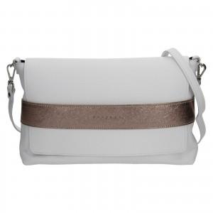Dámska kožená kabelka Facebag Fabia - bielo-zlatá