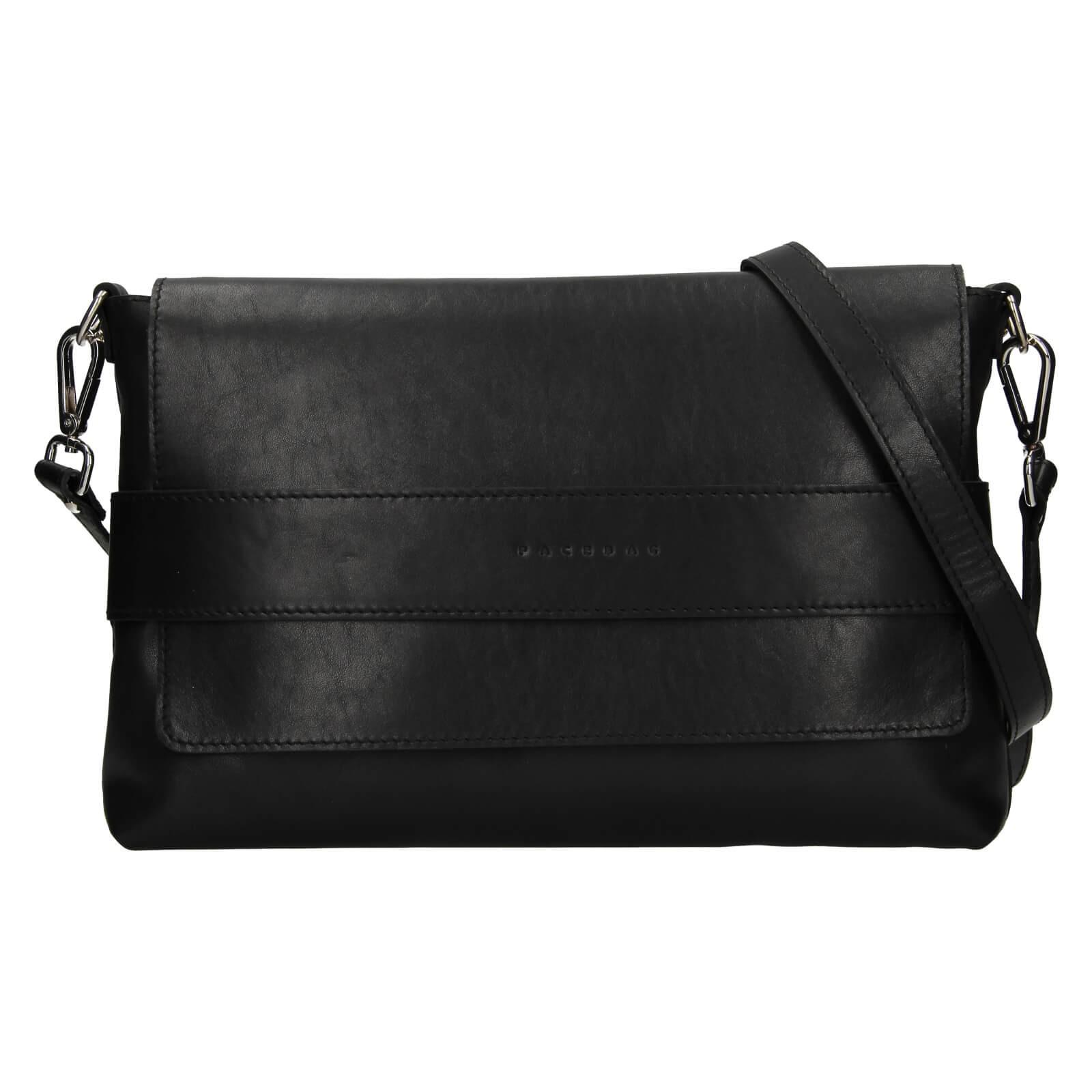 Dámska kožená kabelka Facebag Fabia - čierna