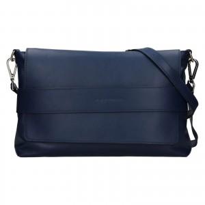 Dámska kožená kabelka Facebag Fabia - tmavo modrá