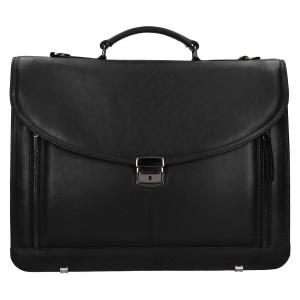 Pánska kožená taška cez rameno Facebag Sartora - čierna