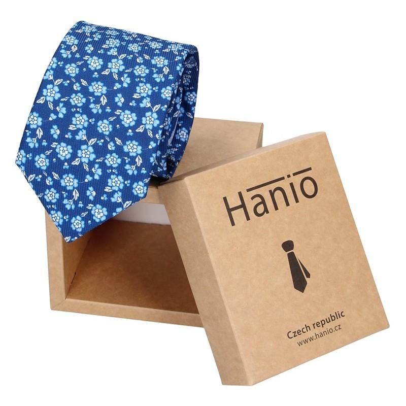 Pánska hodvábna kravata Hanio Ivan - modrá
