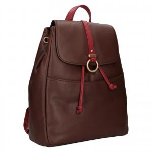 Elegantný dámsky kožený batoh Hexagon Adina - tmavo hnedá