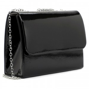 Dámska listová kabelka Tamaris Kleas - čierna lesk